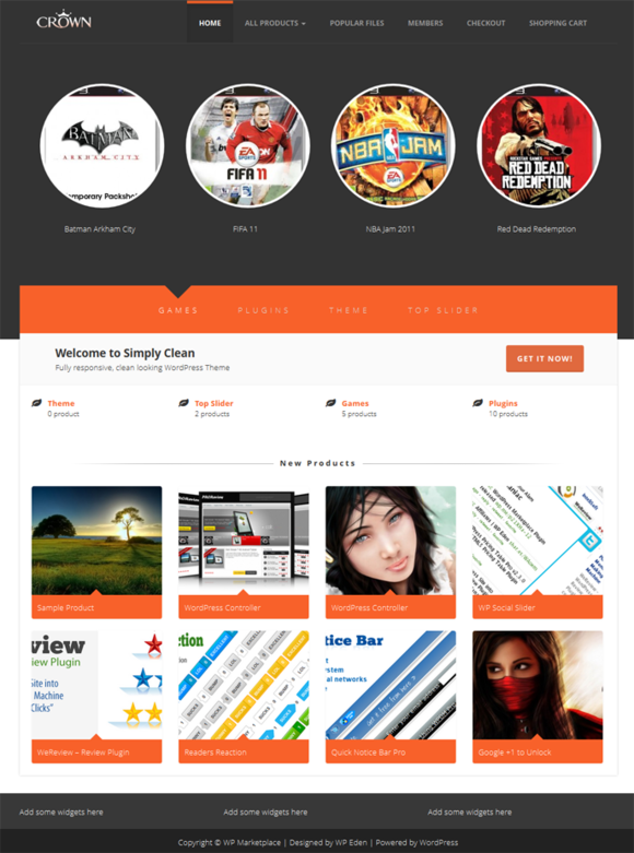 Crown WP MarketPlace Theme