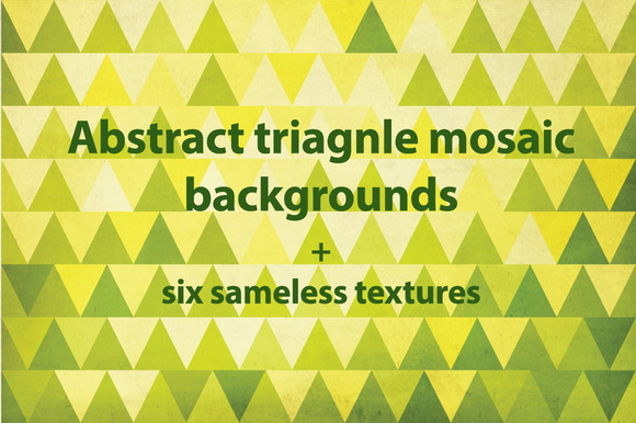 Vector Triangle Mosaic Patterns