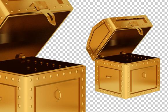 Treasure Box 3D Render PNG