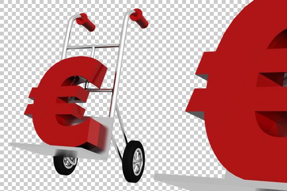 Euro Sign 3D Render PNG