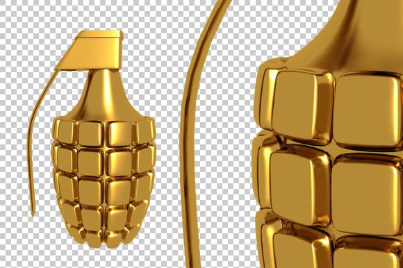 Hand Grenade 3D Render PNG