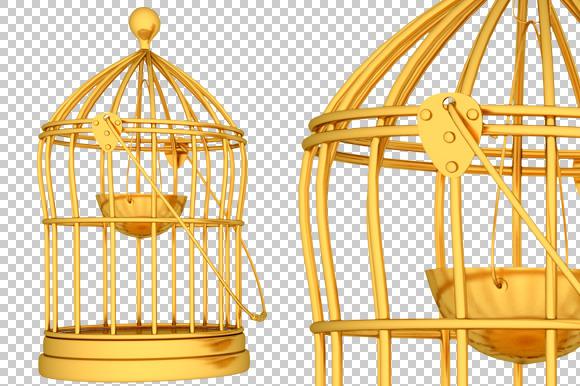 Cage 3D Render PNG