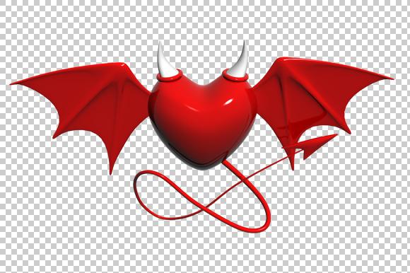 Evil Heart 3D Render PNG