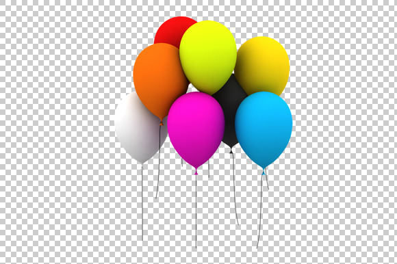 Balloon 3D Render PNG