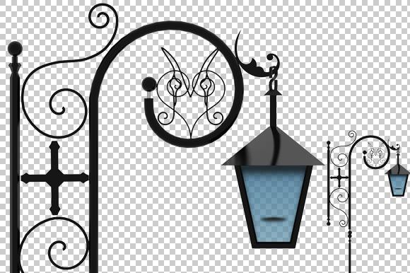 Street Lamp 3D Render PNG