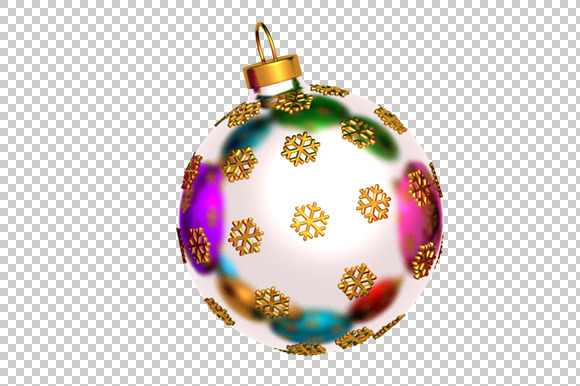 Christmas Ball 3D Render PNG