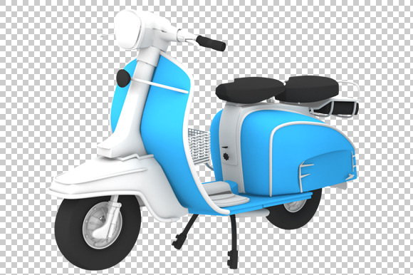 Scooter 3D Render PNG