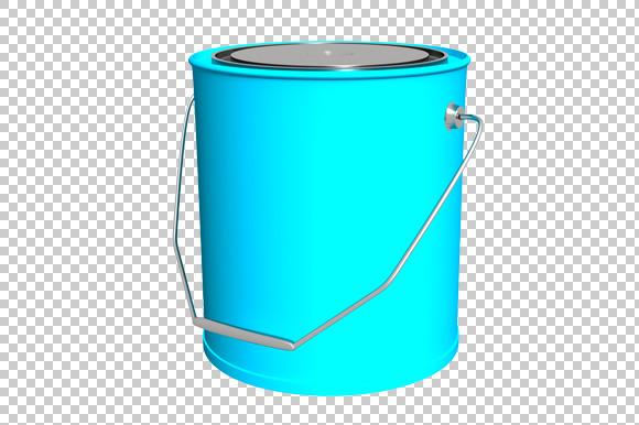 Paint Bucket 3D Render PNG