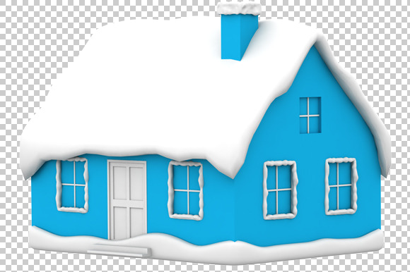 House 3D Render PNG