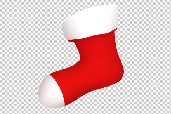 Christmas Stocking 3D Render PNG