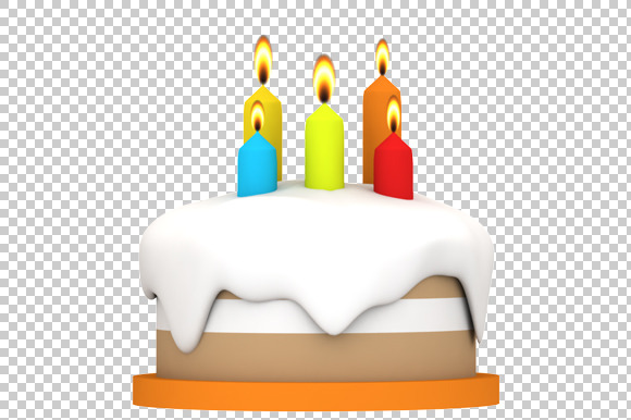 Cake 3D Render PNG