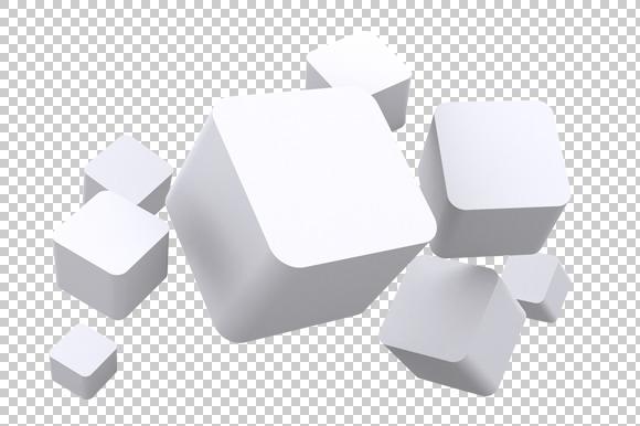 Cubes 3D Render PNG