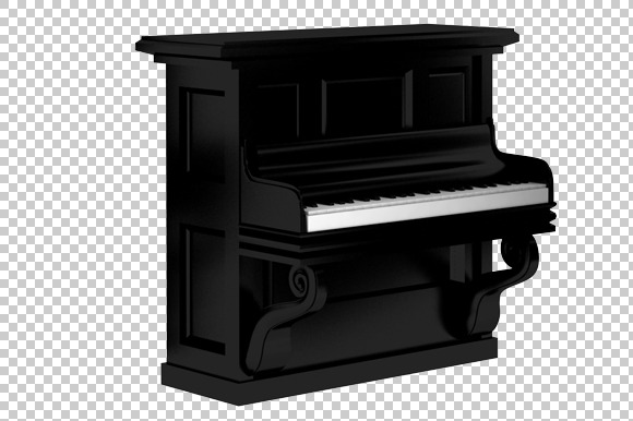 Piano 3D Render PNG