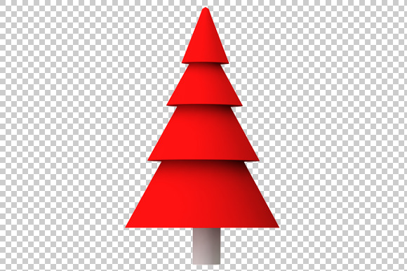 Christmas Tree 3D Render PNG