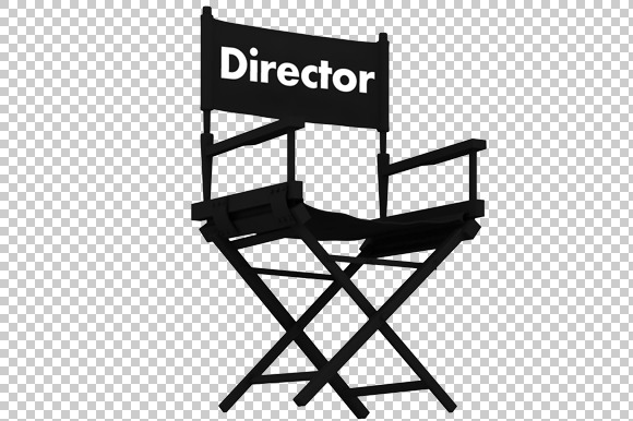 Director Chair 3D Render PNG
