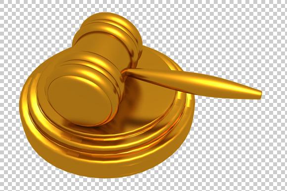 Law Hammer 3D Render PNG