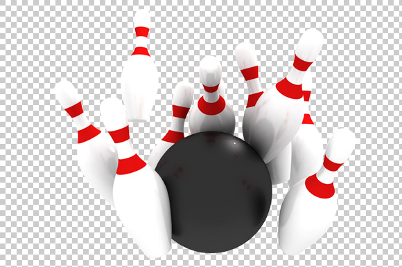 Bowling 3D Render PNG
