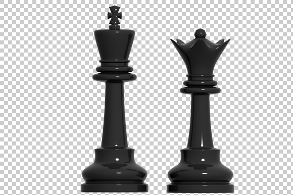 Chess Pawn 3D Render PNG