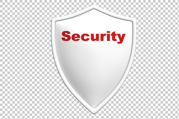 Security Shield 3D Render PNG