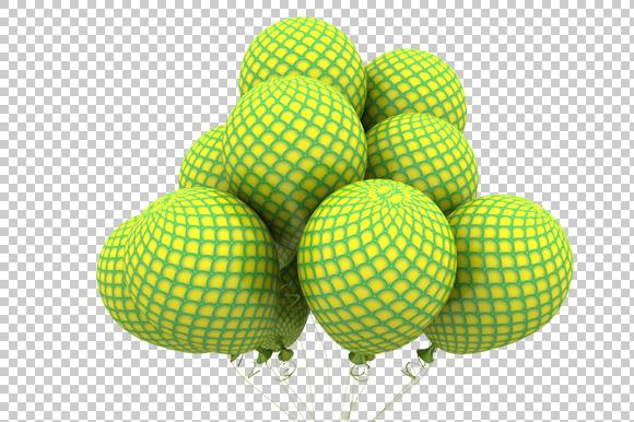 Pattern Balloon 3D Render PNG