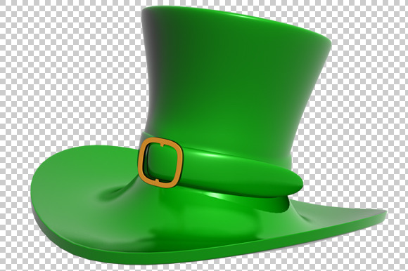 St Patrick S Day Hat 3D PNG