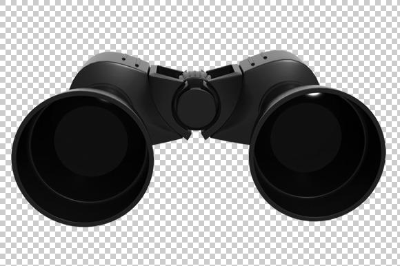 Binoculars 3D Render PNG