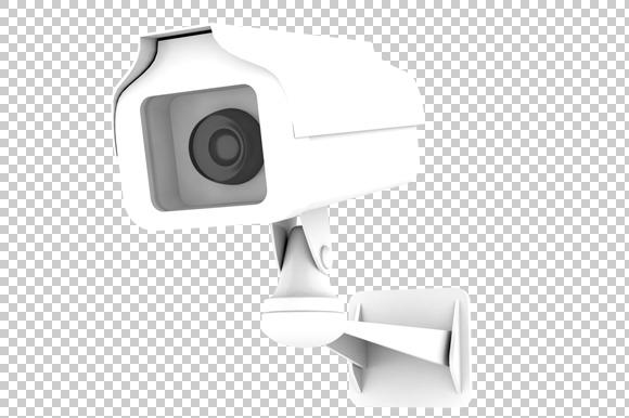 CCTV Camera 3D Render PNG