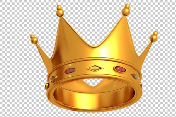 Crown 3D Render PNG