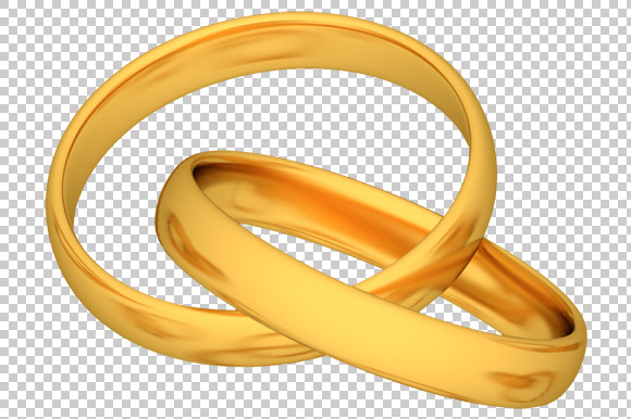 Gold Rings 3D Render PNG