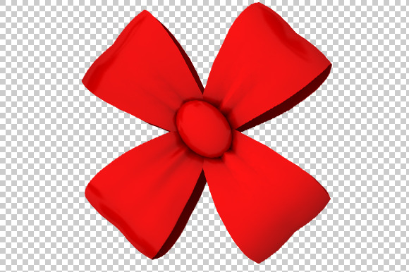 Decorative Bow 3D Render PNG