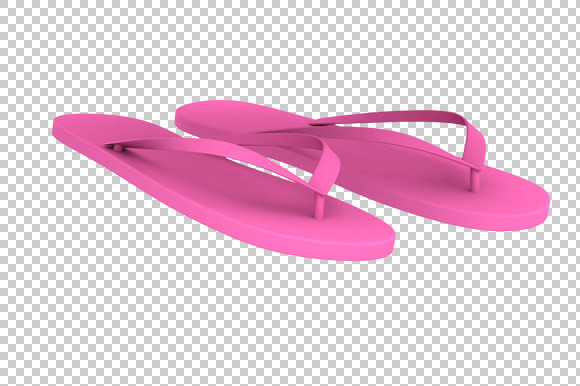 Slippers 3D Render PNG