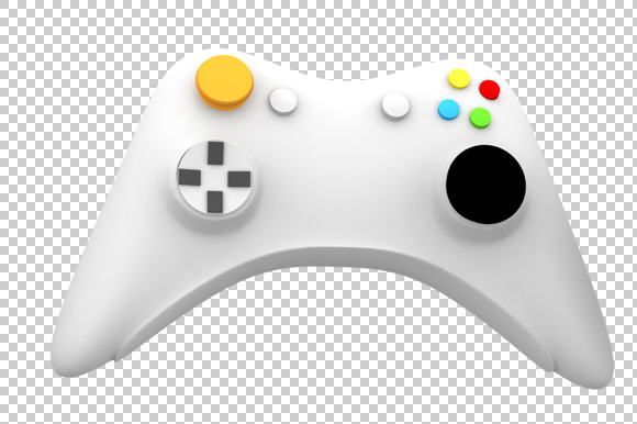 Game Controller 3D Render PNG