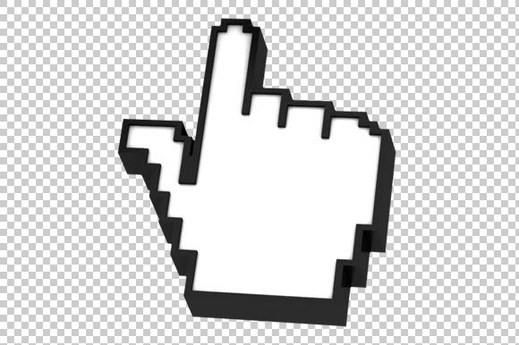 Hand Cursor 3D Render PNG