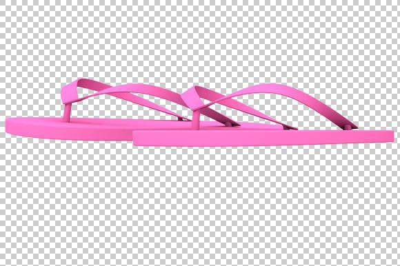Flip Flop 3D Render PNG