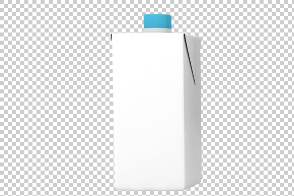 Milk Pack 3D Render PNG