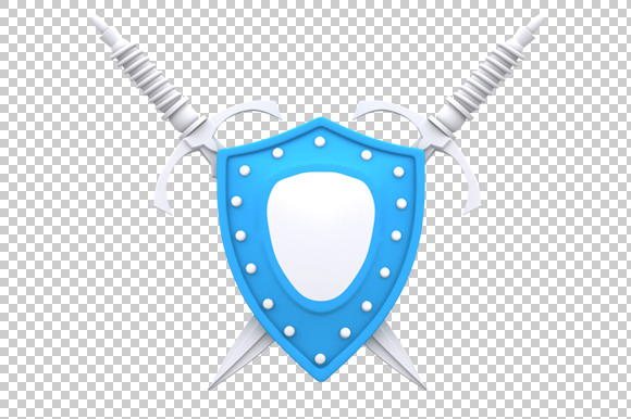 Shield 3D Render PNG