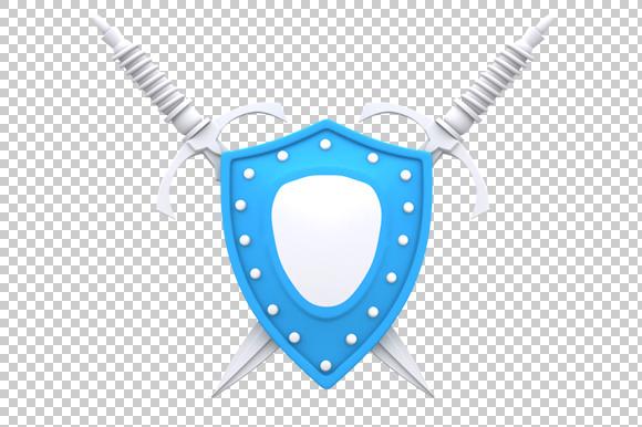 Shield 3D Render PNG