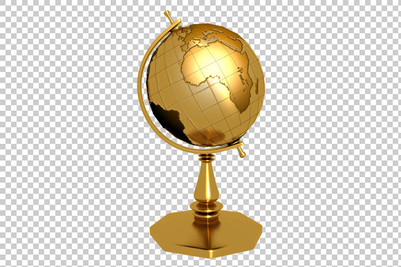 Golden Globe 3D Render PNG
