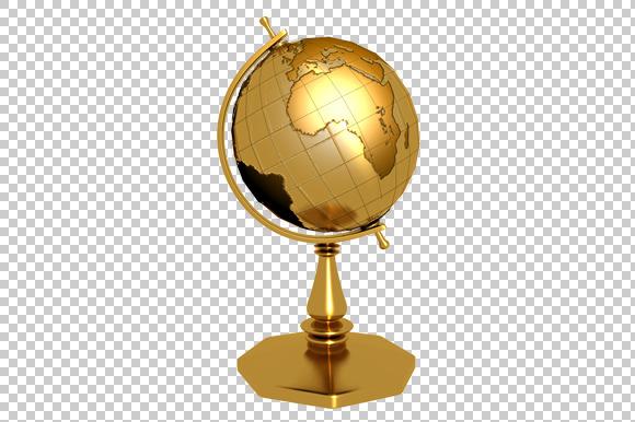 Golden Globe 3D Render PNG