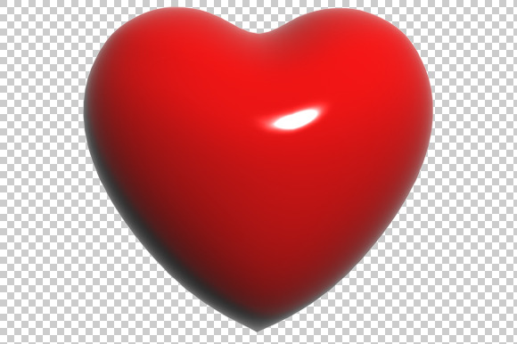 Heart 3D Render PNG
