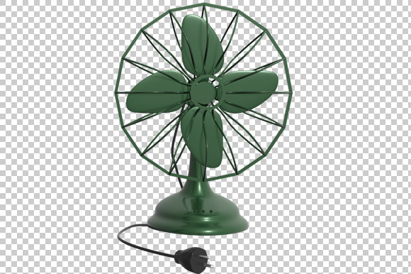 Table Fan 3D Render PNG