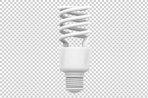 CFL 3D Render PNG