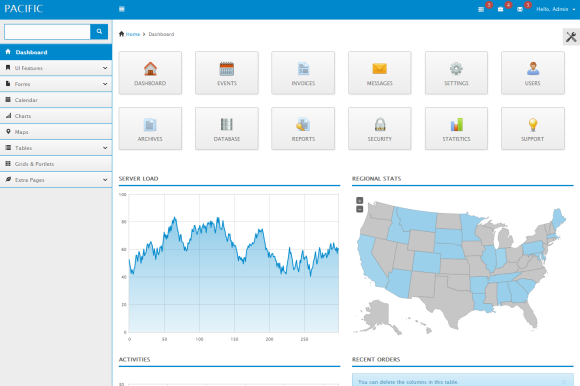 Pacific Responsive Admin Template