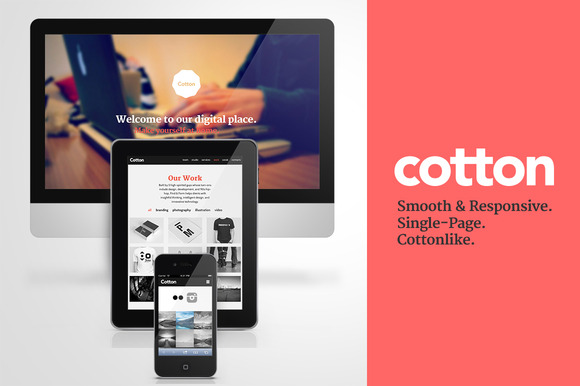Cotton Responsive HTML Single Page
