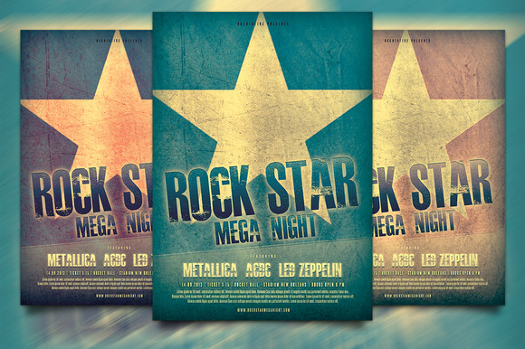 Rock Star Flyer Poster