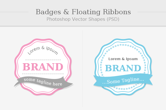 Badges With Floating Ribbons
