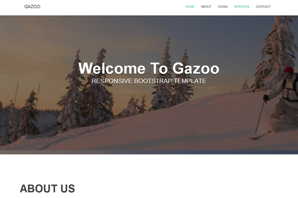 Gazoo Bootstrap One Page Template