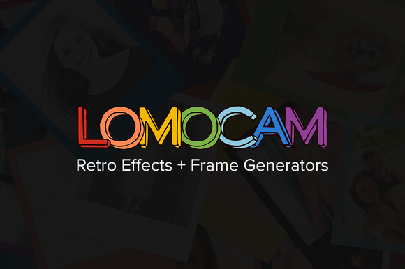 Lomocam Retro Effects Frames