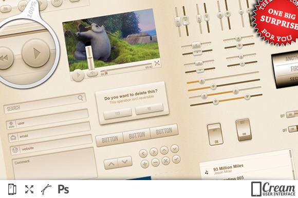 CreamUI Mobile Interface Kit