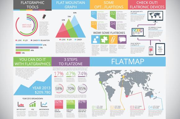 Flat Infographics = Flatgraphics
